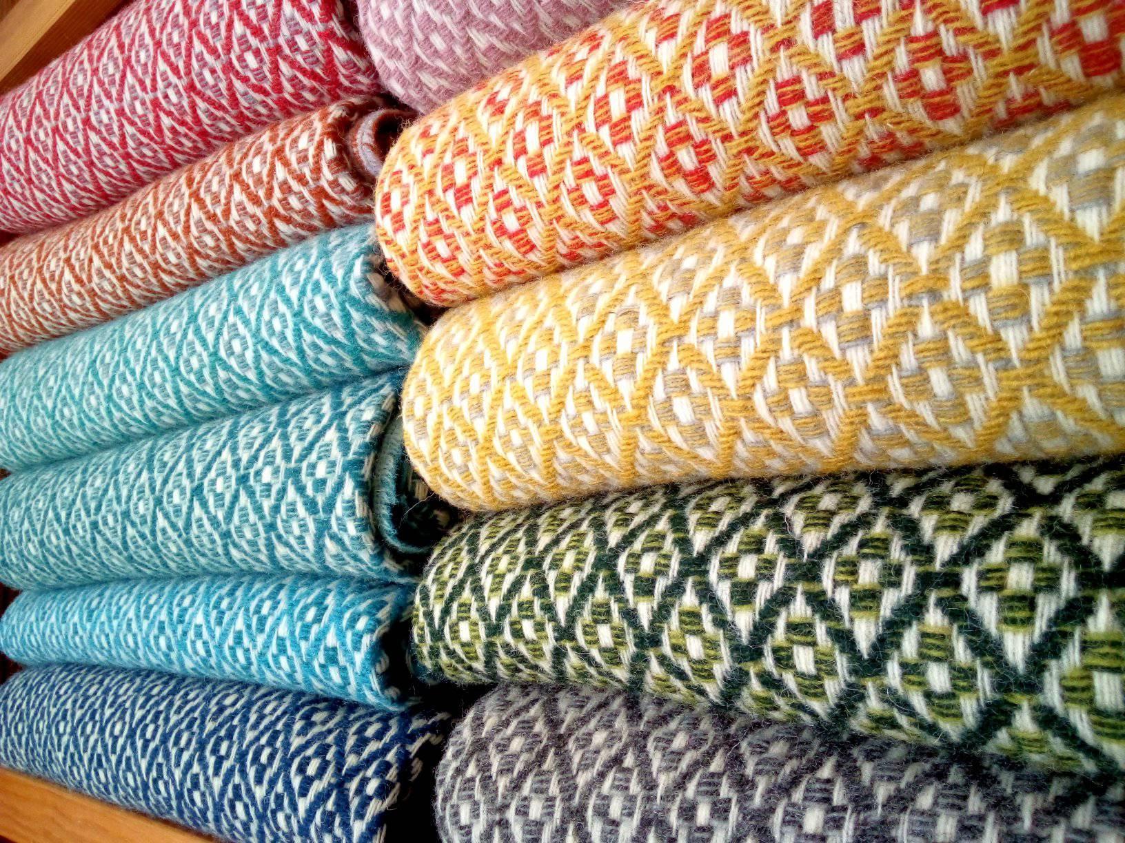 Tapetes de tecelagem de pura lã