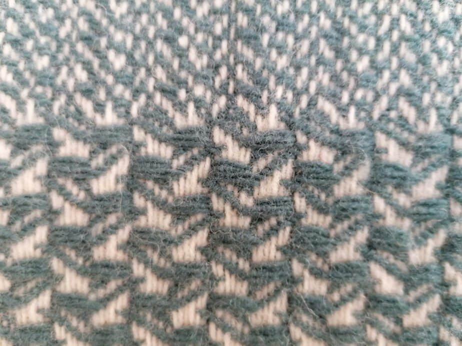 Pure wool blue cushion cover - mix pattern
