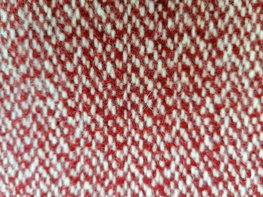 Pure wool red cushion cover - simple pattern