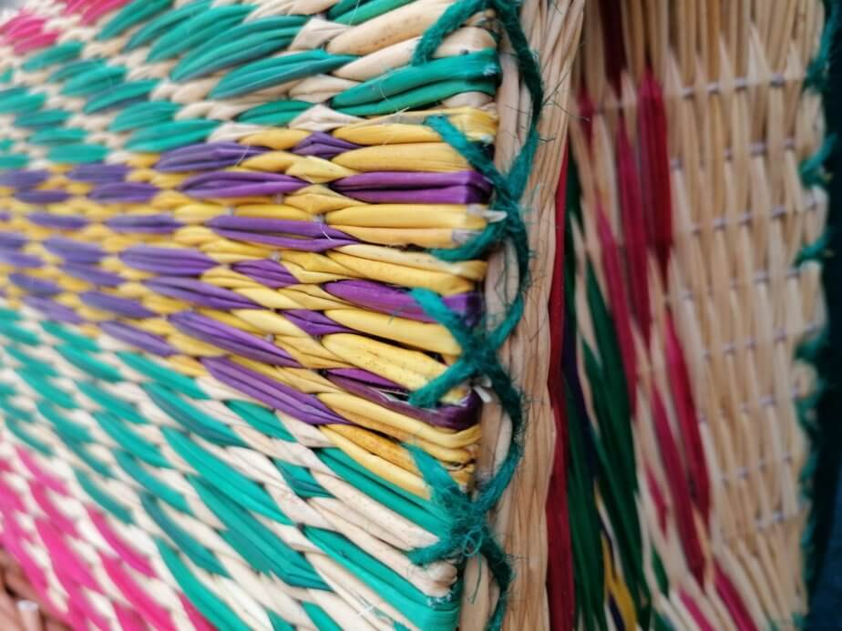 details - Reed Basket (Color and striped pattern)