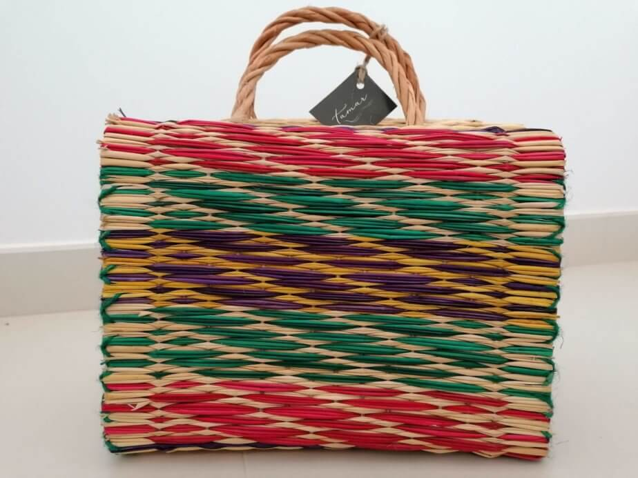 Reed Basket (Color and striped pattern)