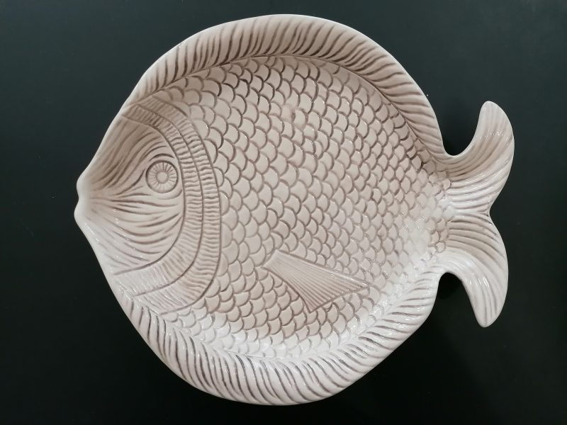 prato peixe - médio branco