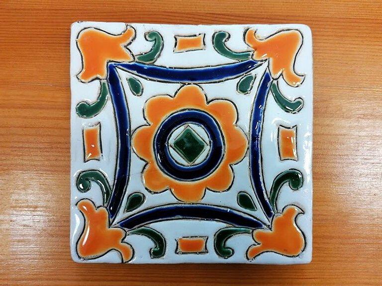 Azulejo pintado à mão - floral - n12 - grande