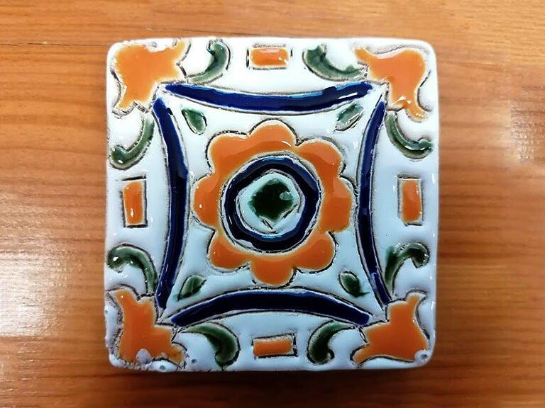 Azulejo pintado à mão - floral - n12 - pequeno
