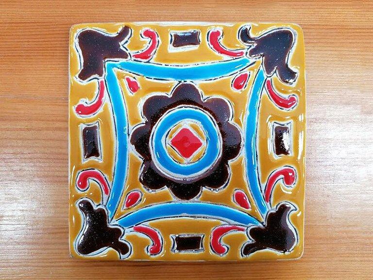 Azulejo pintado à mão - floral - n17 - grande