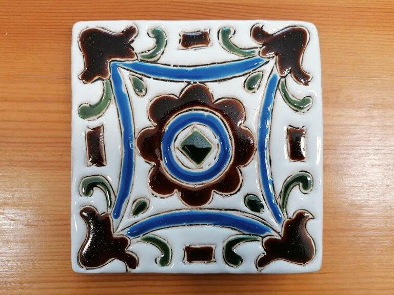 Azulejo pintado à mão - floral - n2 - grande
