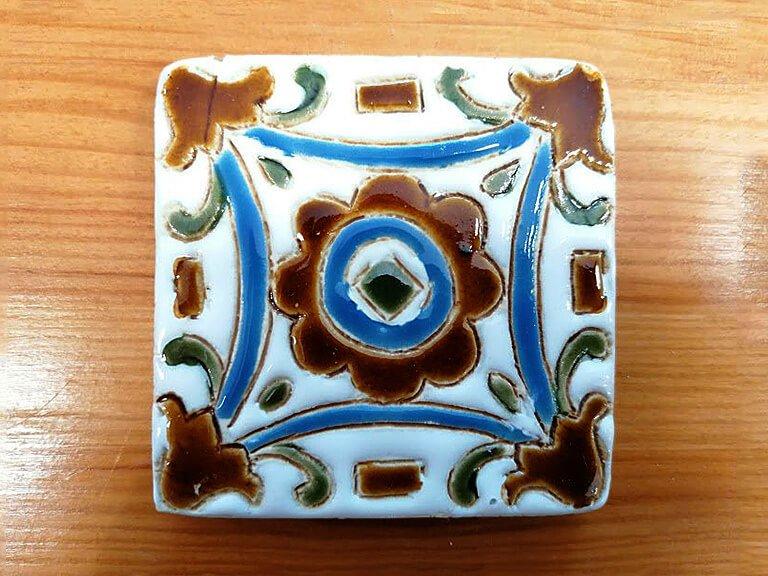 Azulejo pintado à mão - floral - n2 - pequeno