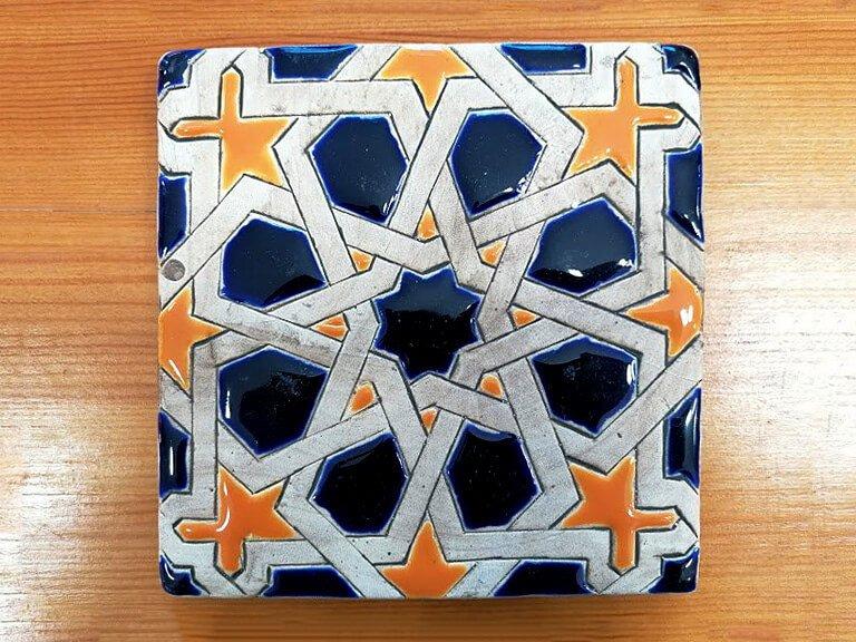Azulejo pintado à mão - Mudéjar- n11- grande