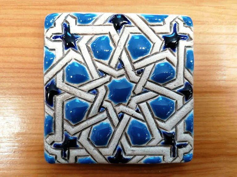 Azulejo pintado à mão - Mudéjar- n14- grande
