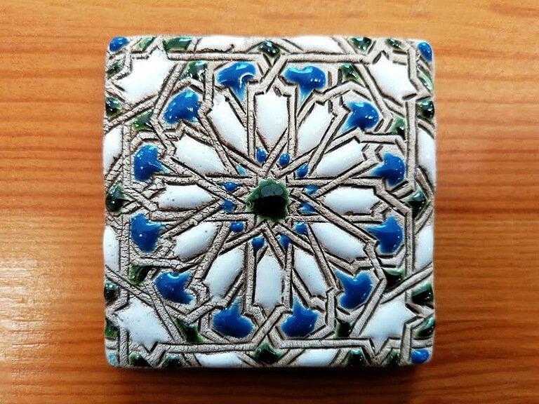 Azulejo pintado à mão - Mudéjar- n15- pequeno