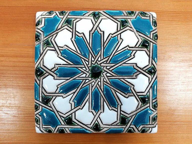 Azulejo pintado à mão - Mudéjar- n16- grande