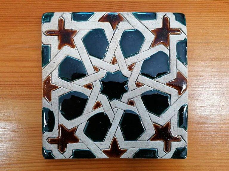 Azulejo pintado à mão - Mudéjar- n19- grande