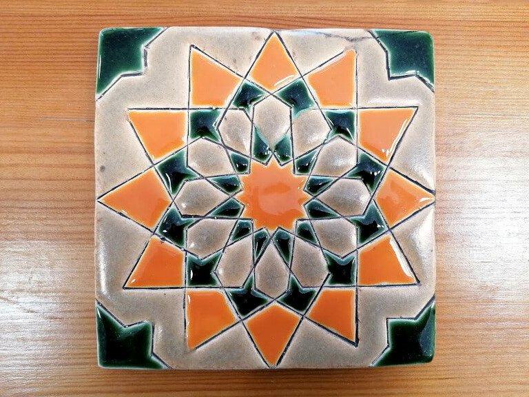 Azulejo pintado à mão - Geométrico A- n1- grande