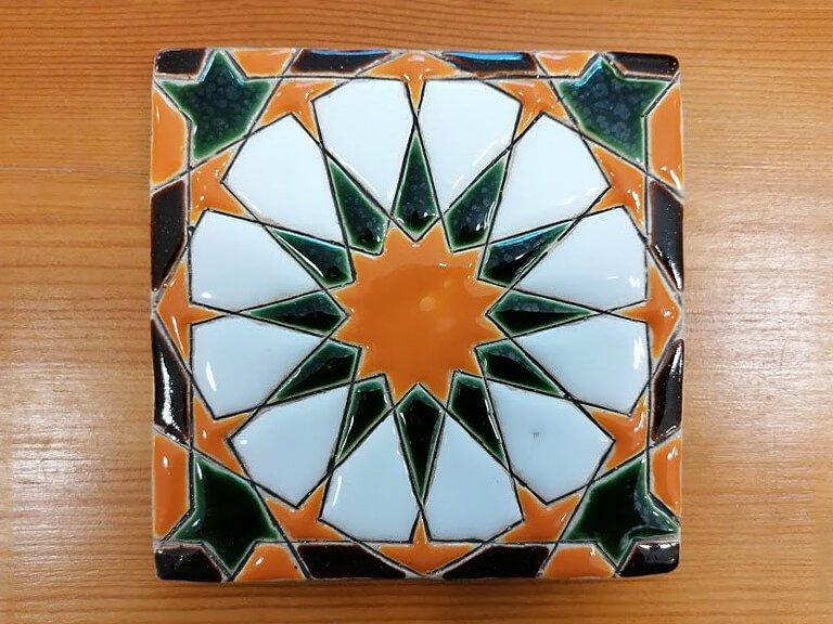 Azulejo pintado à mão - Geométrico A- n15- grande