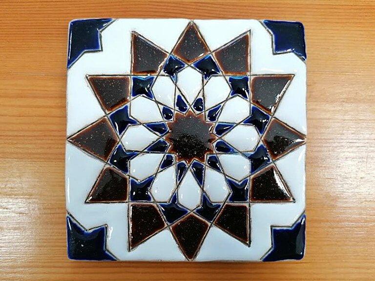 Azulejo pintado à mão - Geométrico A- n5- grande