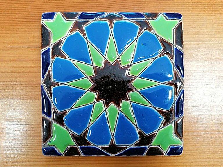Azulejo pintado à mão - Geométrico A- n6- grande