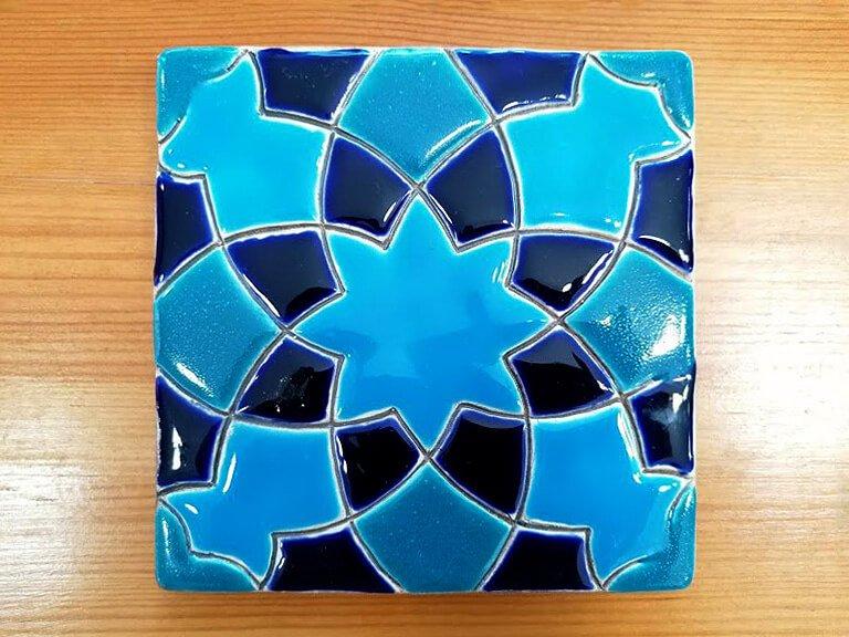 Azulejo pintado à mão - Geométrico B- n18- grande