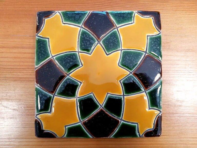 Azulejo pintado à mão - Geométrico B- n3- grande