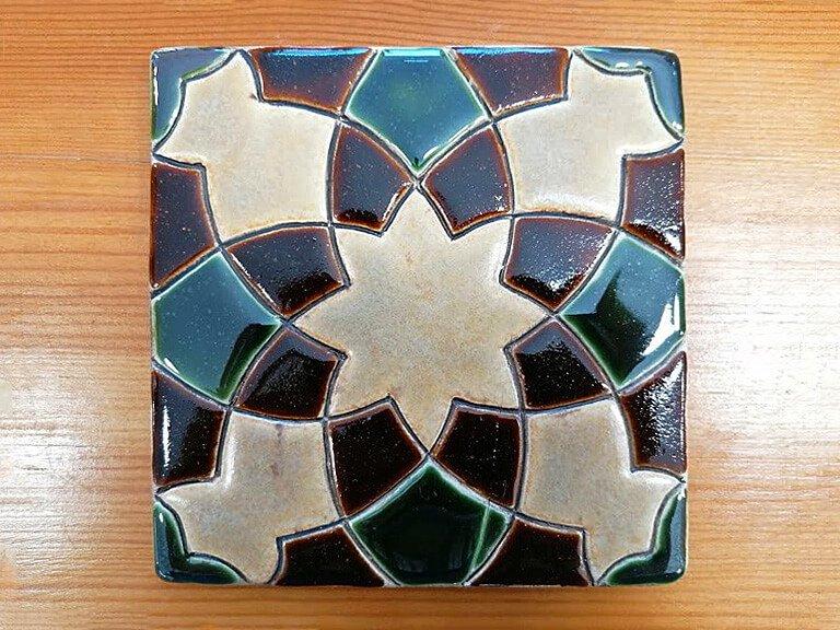 Azulejo pintado à mão - Geométrico B- n7- grande