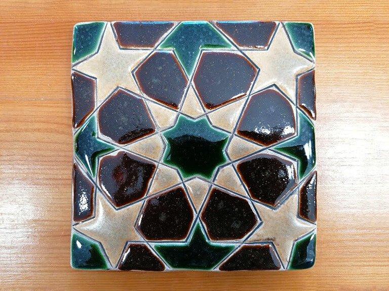 Azulejo pintado à mão - Geométrico C- n13- grande