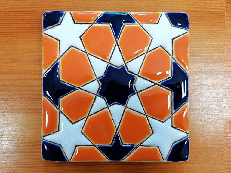 Azulejo pintado à mão - Geométrico C- n20- grande