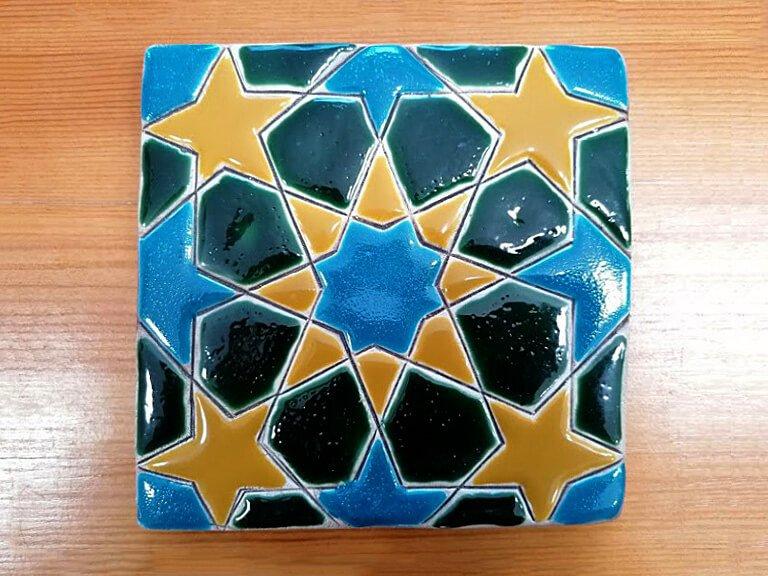 Azulejo pintado à mão - Geométrico C- n4- grande
