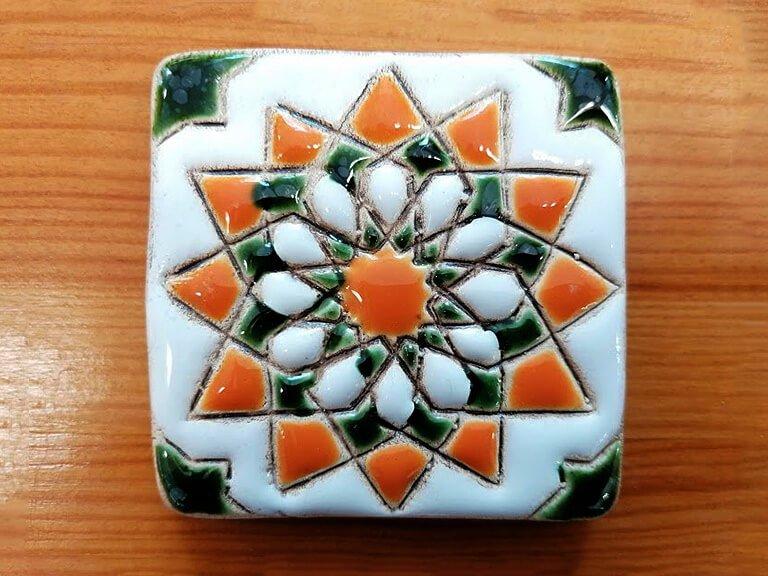 zulejo pintado à mão - Geométrico A- n1- pequeno