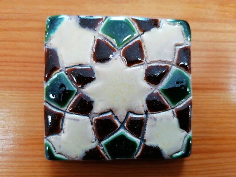 zulejo pintado à mão - Geométrico B- n5- pequeno