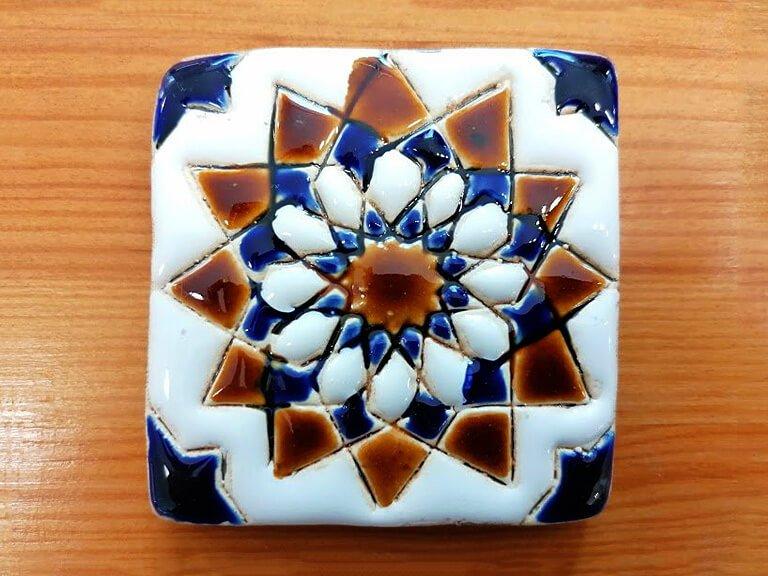 zulejo pintado à mão - Geométrico A- n5B- pequeno