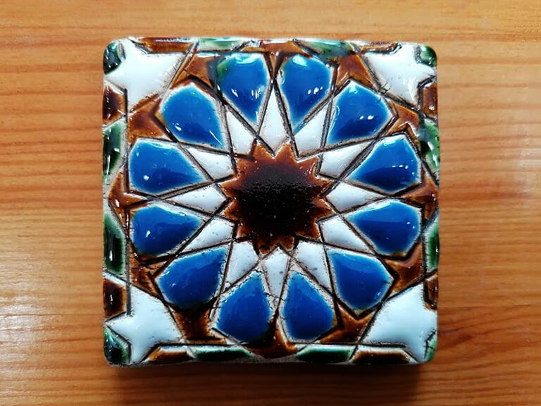 zulejo pintado à mão - Geométrico A- n6B- pequeno