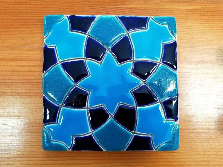 zulejo pintado à mão - Geométrico B- n18- pequeno
