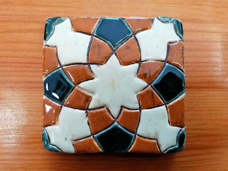 zulejo pintado à mão - Geométrico B- n7- pequeno