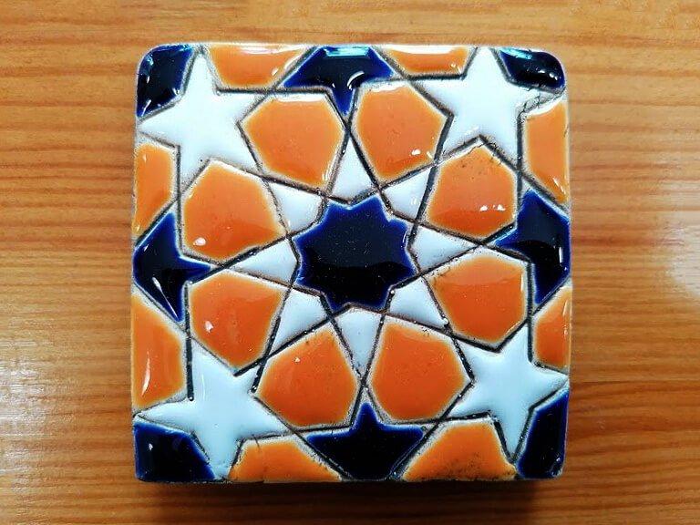Azulejo pintado à mão - Geométrico C- n20- pequeno