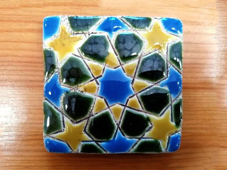 Azulejo pintado à mão - Geométrico C- n4- pequeno