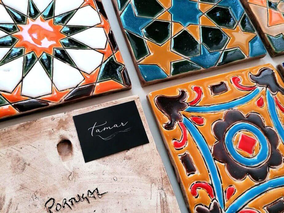 Azulejos pintados à mão -grande - Loja amar