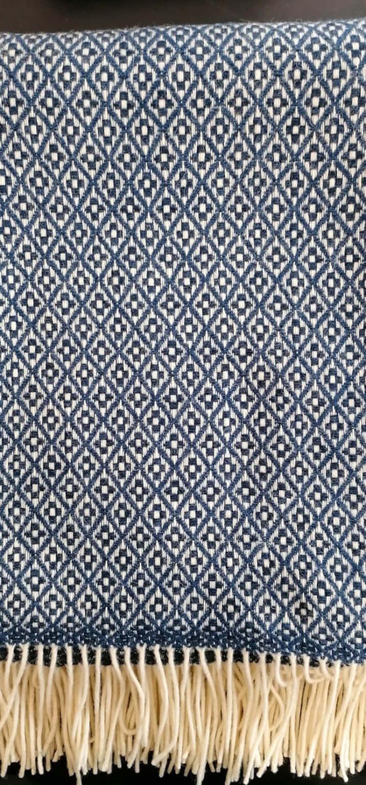 Manta pura lã - Azul Escuro