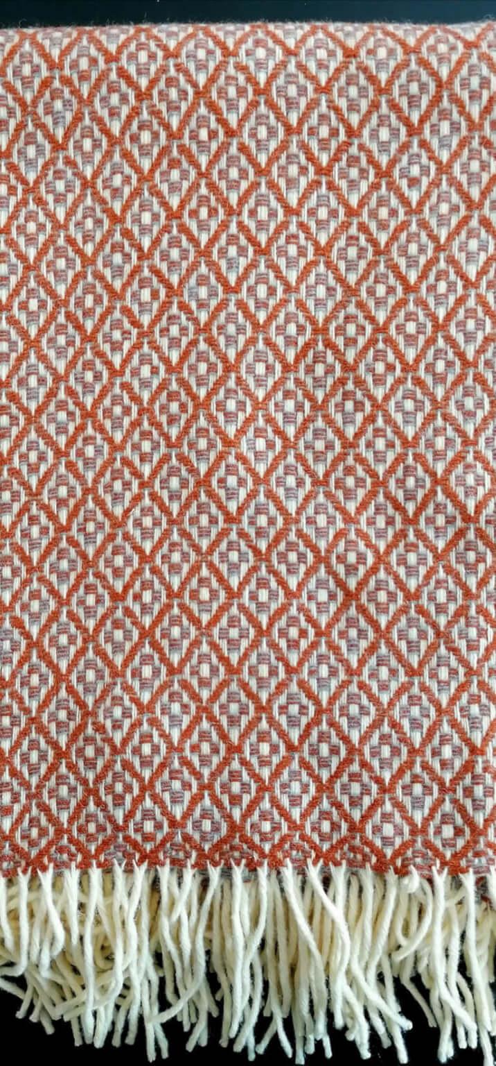 Manta pura lã - Castanho