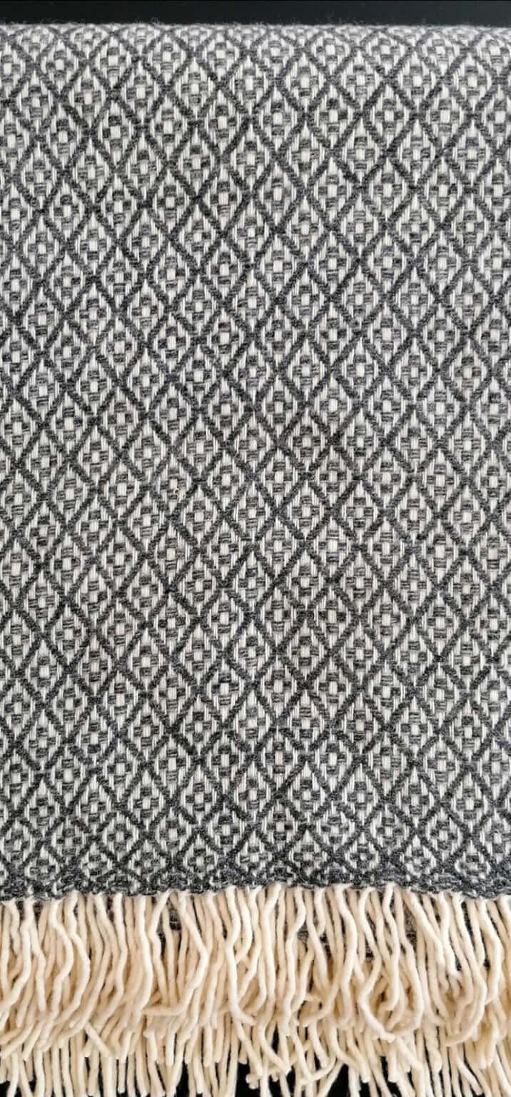 Manta pura lã - Cinzento