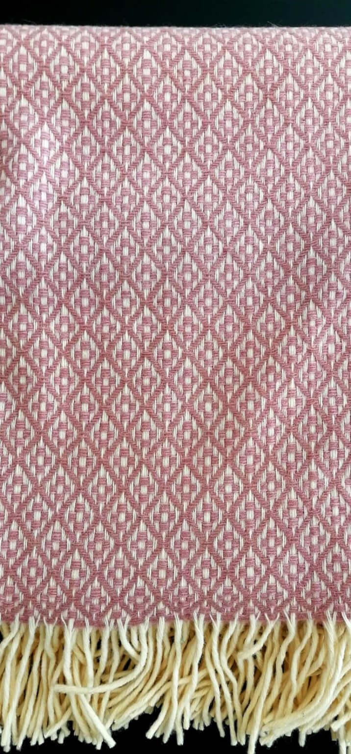 Manta pura lã - Rosa