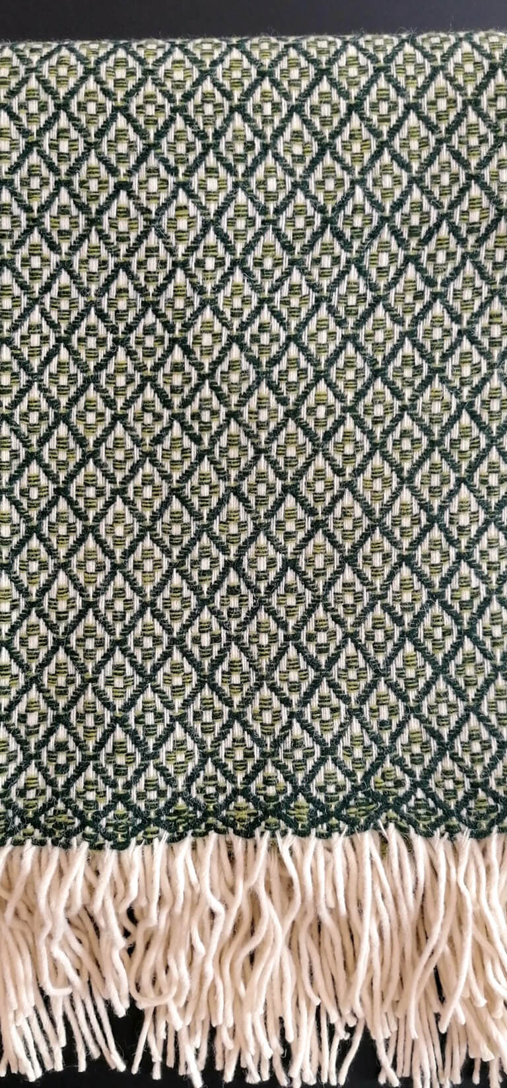 Manta pura lã - Verde Escuro