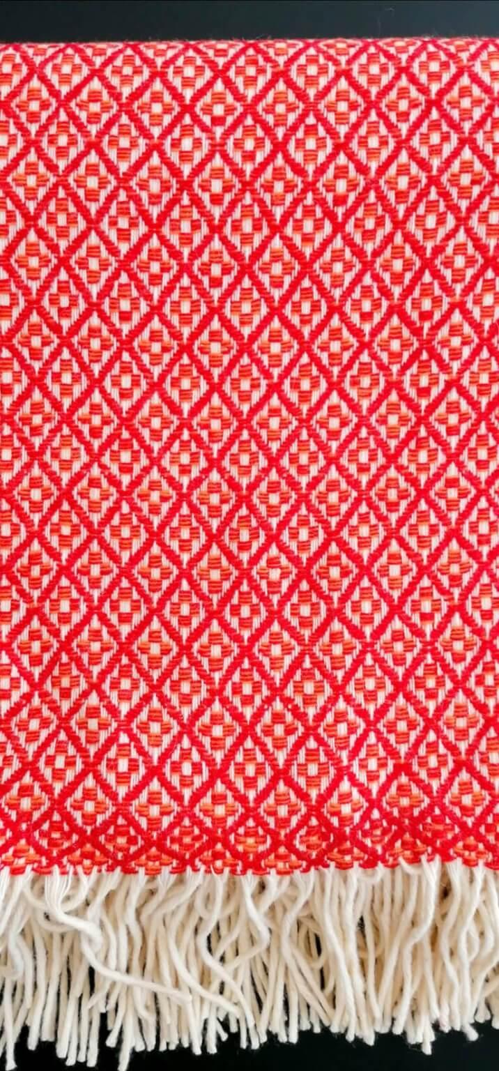Manta pura lã - Vermelho