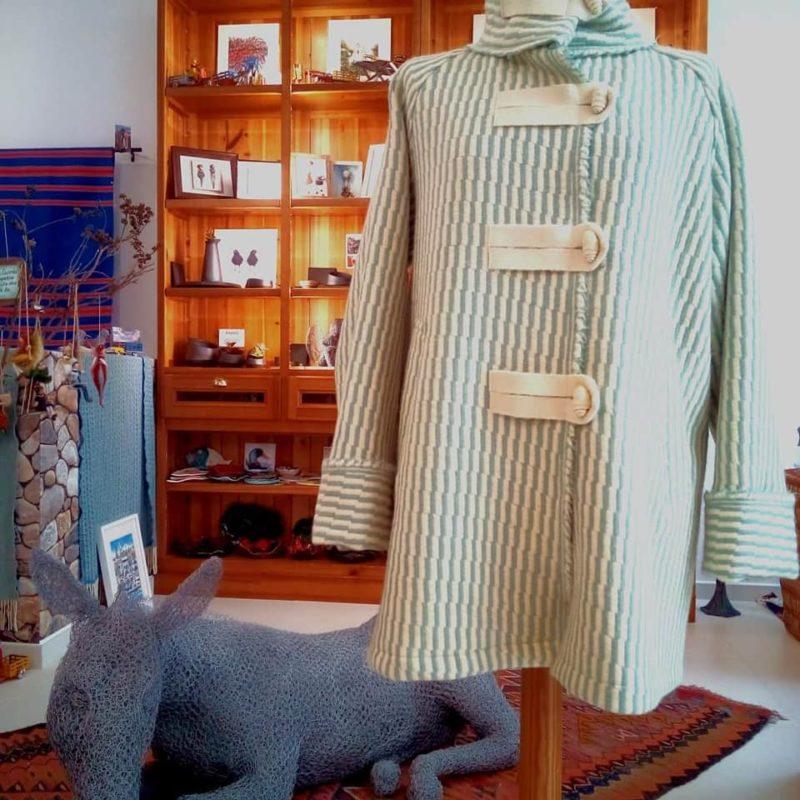 casaco lã - verde água