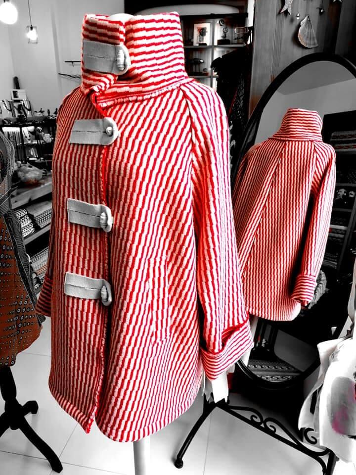 casaco lã - vermelho