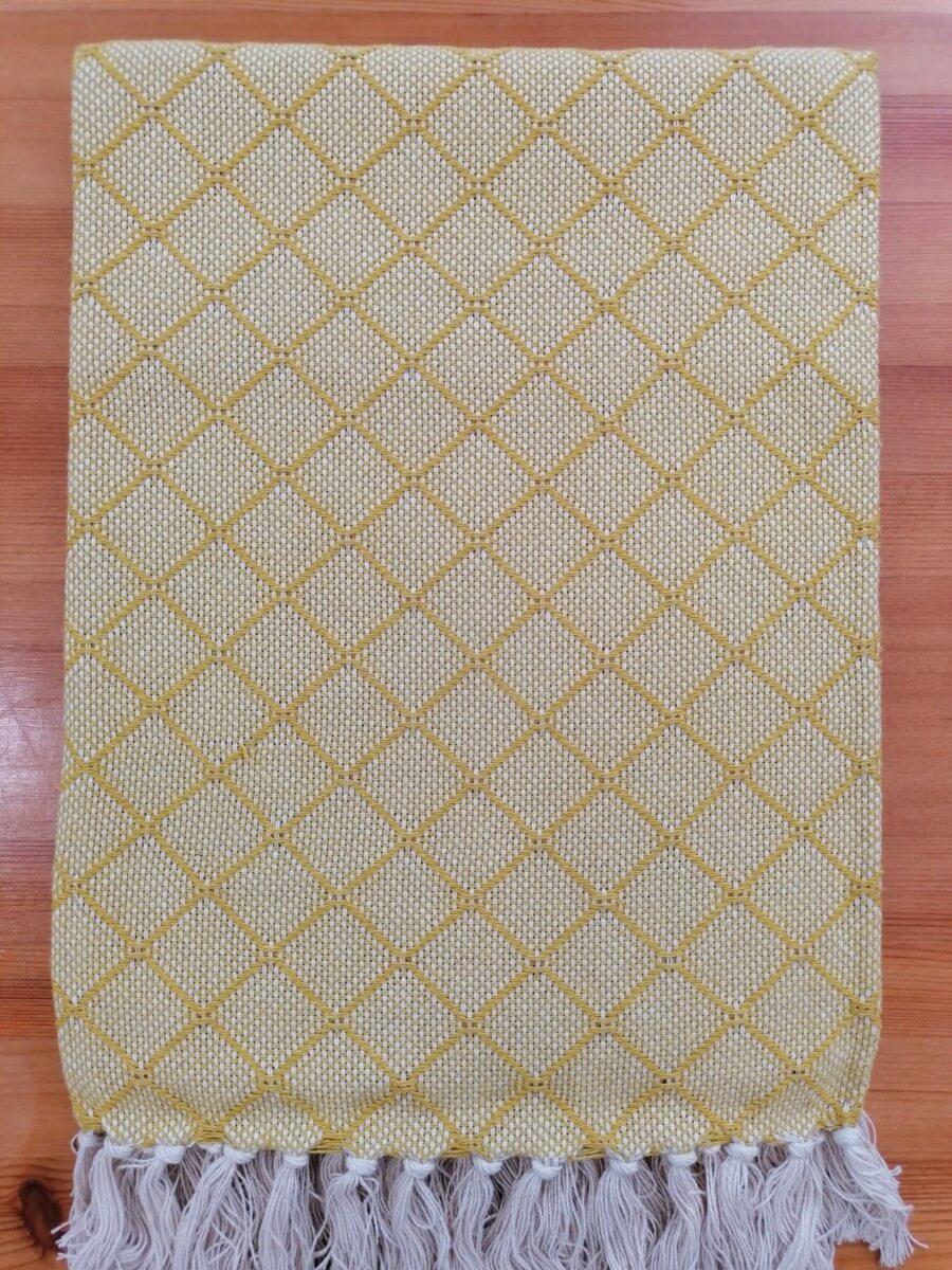Mantas Algodão - Azulejo Amarelo