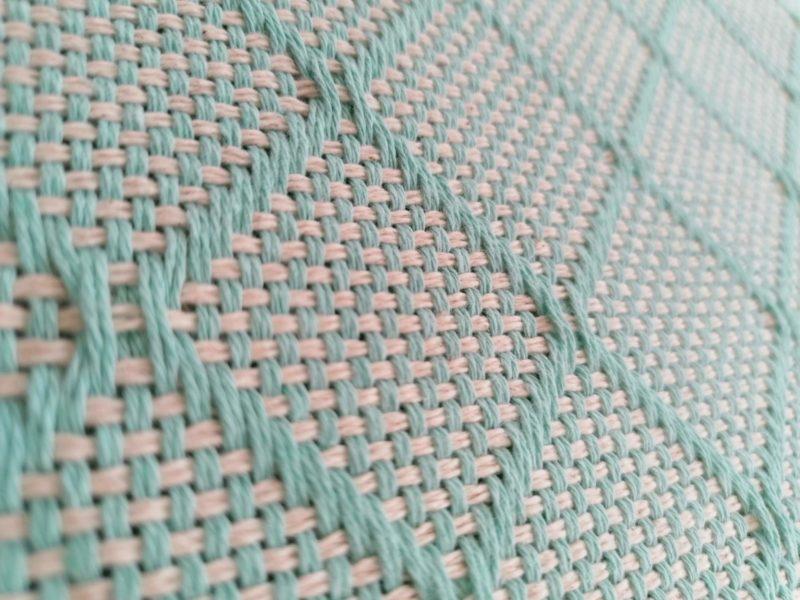 Mantas Algodão - Azulejo Azul Claro