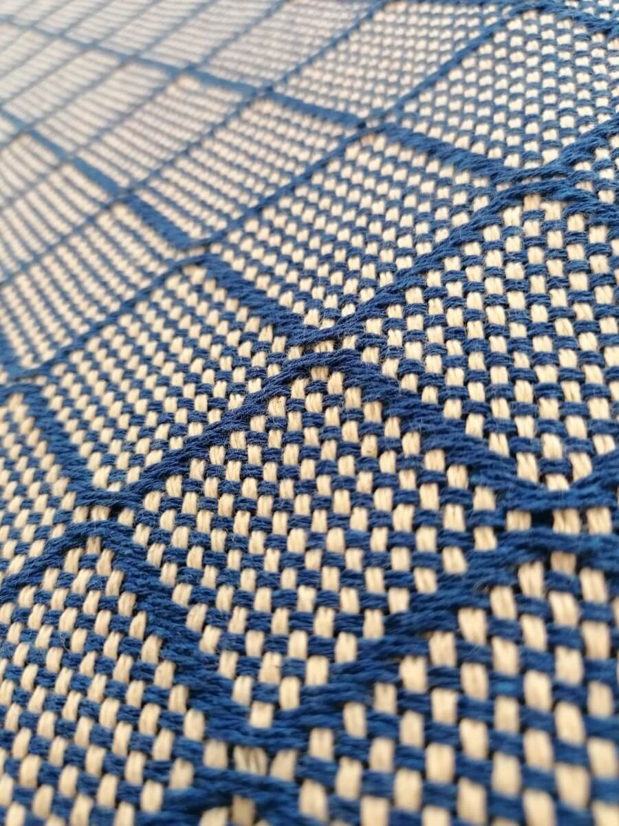 Mantas Algodão - Azulejo Azul Escuro