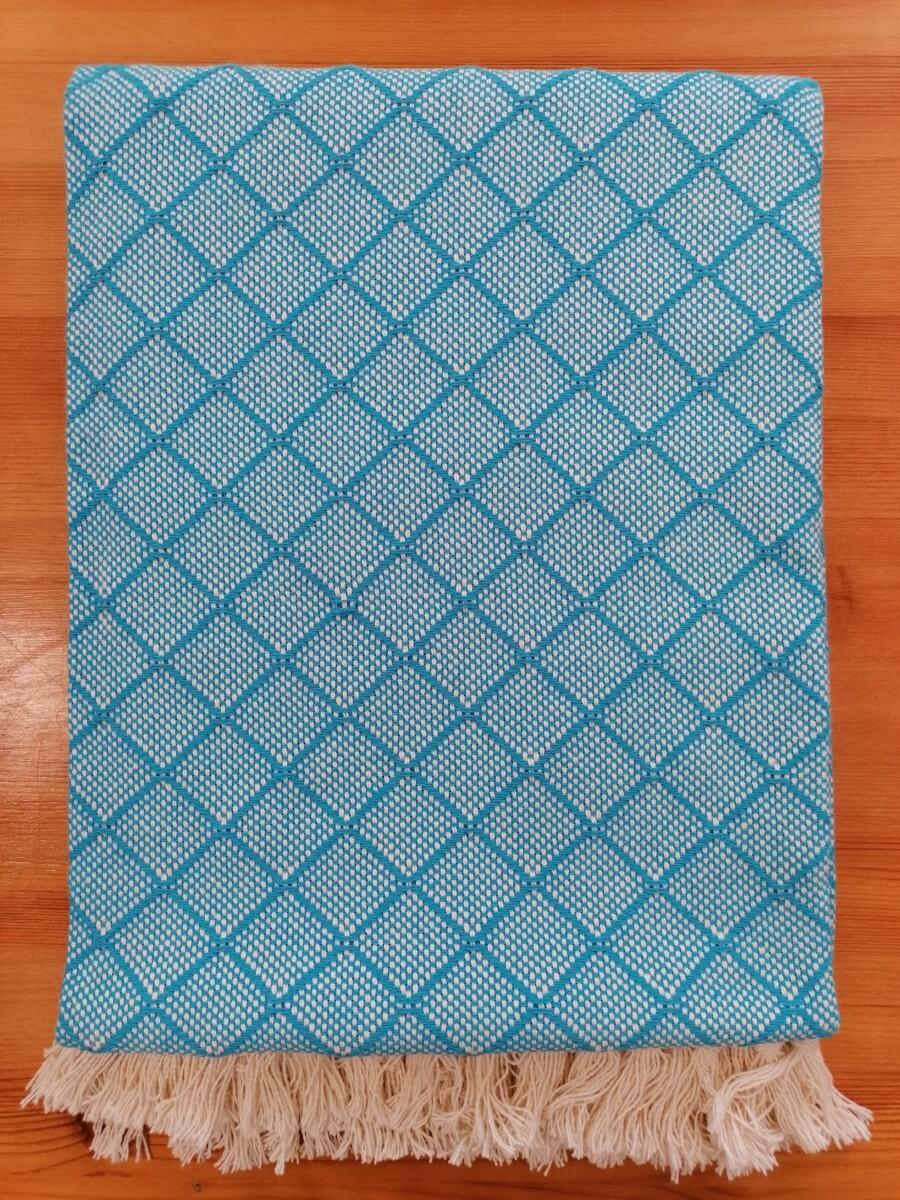 Mantas Algodão - Azulejo Azul Turquesa