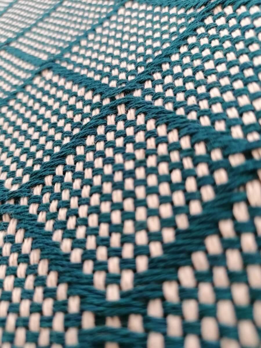 Mantas Algodão - Azulejo Azul Turquesa Escuro