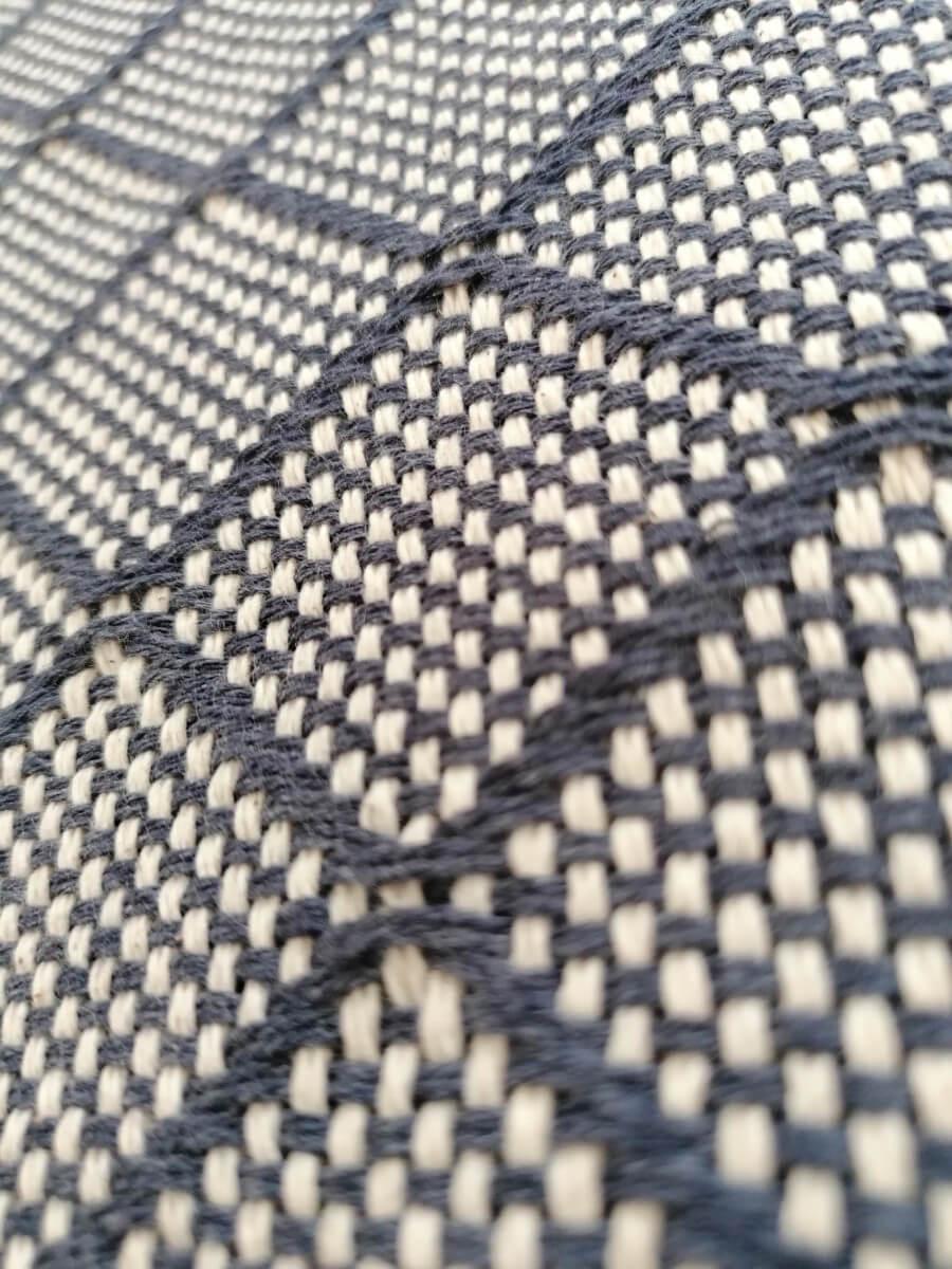 Mantas Algodão - Azulejo Cinzento