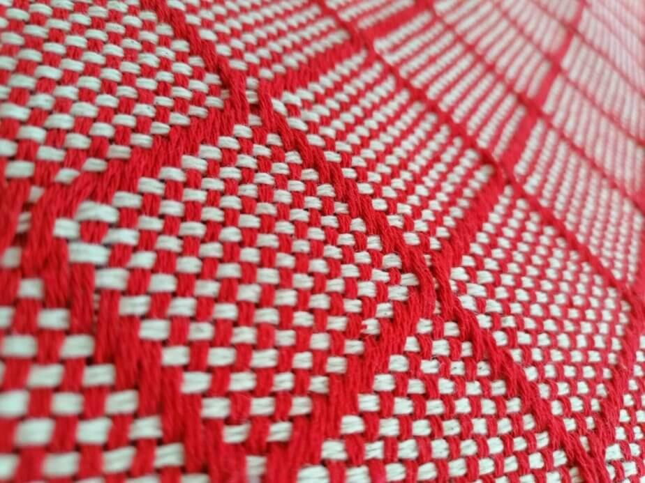 Mantas Algodão - Azulejo Vermelho